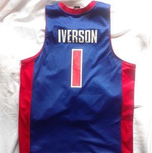 Adidas Detroit Pistons Jersey Iverson